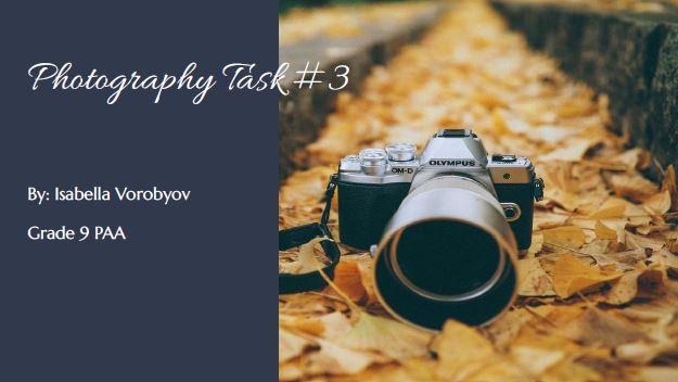 Photography Task #3