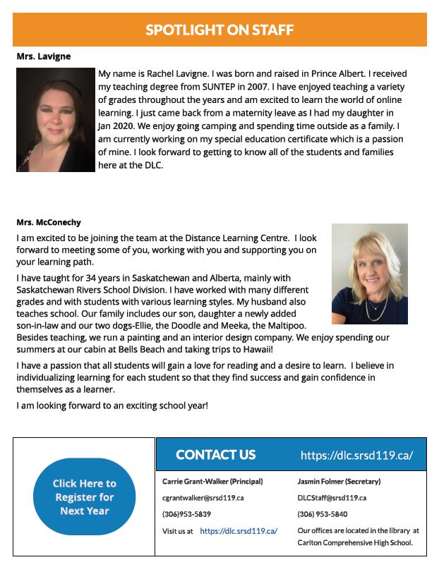 May Newsletter Spotlight on Staff